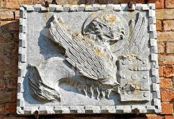 Leone alato con libro - Muro esterno del Museo di Torcello