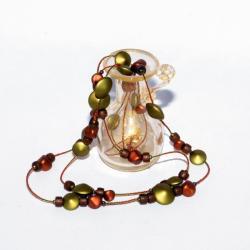 Bigiotteria Fiori in perle a lume