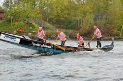 Gondola sul fiume Hudson - Spedizione remiera da Albany a Ground Zero (U.S.A.)