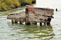 Relitto abbandonato in laguna nei pressi di Mazzorbo (2018)