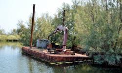 Pontone abbandonato in Laguna Nord (07/2021)