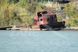 Relitto di chiatta lungo Hudson river (USA) - 2007