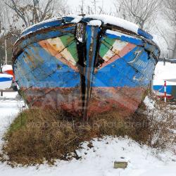 Relitto del barcone Johnson abbandonato nell'area del Polo Nautico San Giuliano - 2010