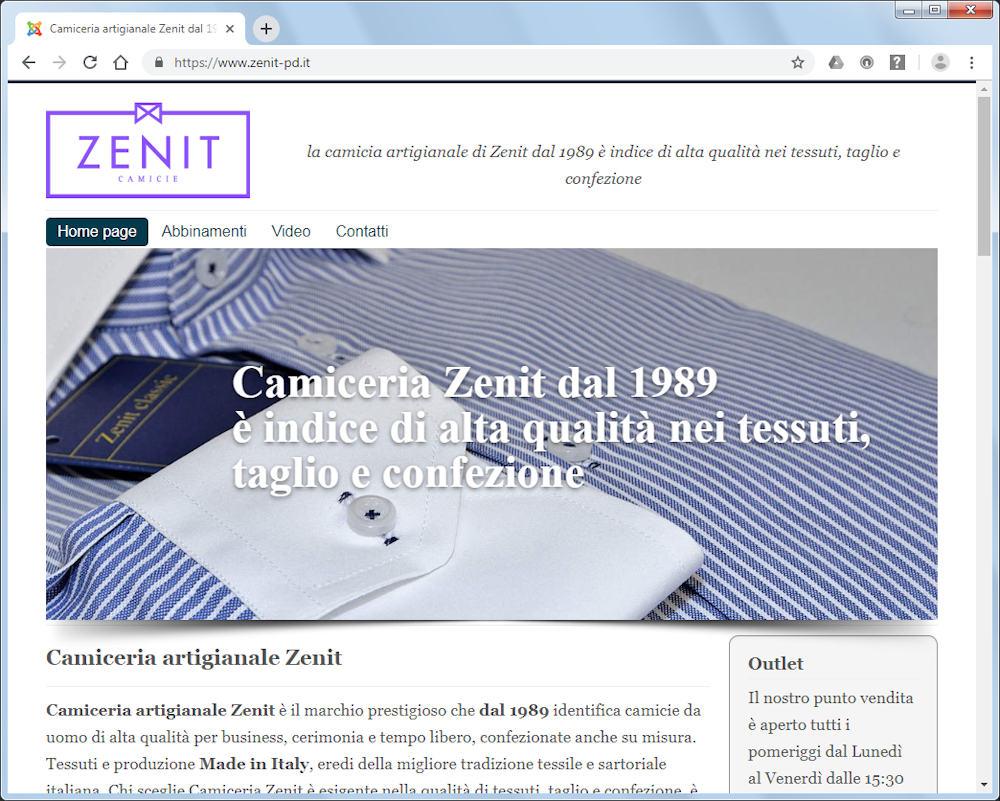 comprare on line ce5d7 4c18b Camiceria artigiana Zenit