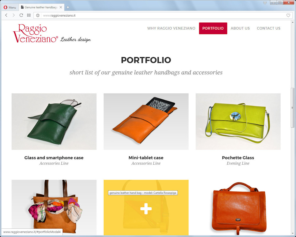 genuine leather vegetable dies handbags Made by Raggio Veneziano